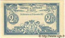 2 Francs ORAN ALGÉRIE  1915 JP.141.14 NEUF