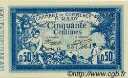 50 Centimes ORAN ALGÉRIE  1918 JP.141.19 NEUF