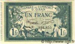 1 Franc ALGÉRIE Oran 1918 JP.08 NEUF