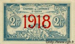 2 Francs ALGÉRIE  1918 JP.09 SPL