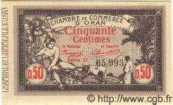 50 Centimes ALGÉRIE Oran 1920 JP.10 SPL
