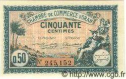 50 Centimes ALGÉRIE Oran 1921 JP.141.25 NEUF