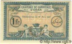 1 Franc ALGÉRIE Oran 1921 JP.14 NEUF