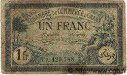 1 Franc ORAN ALGÉRIE  1923 JP.141.39 B