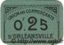 25 Centimes ORLEANSVILLE ALGÉRIE  1915 JPCV.06 SPL