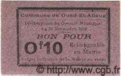 Bon Pour 10 Centimes ALGÉRIE  1916  NEUF