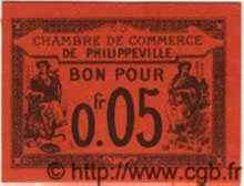 5 Centimes PHILIPPEVILLE ALGÉRIE  1915 JP.12 NEUF
