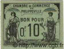 10 Centimes PHILIPPEVILLE ALGÉRIE  1919 JP.15var. NEUF