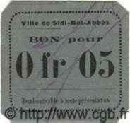5 Centimes SIDI-BEL-ABBES ALGÉRIE  1915 JPCV.04 pr.NEUF