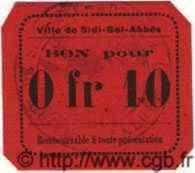 10 Centimes SIDI-BEL-ABBES ALGÉRIE  1915 JPCV.07 NEUF