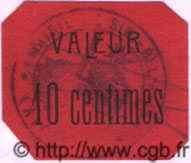 10 Centimes ALGÉRIE Sidi-Bel-Abbès 1915 JPCV.08 pr.NEUF