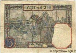 5 Francs ALGÉRIE  1925 P.003 TTB