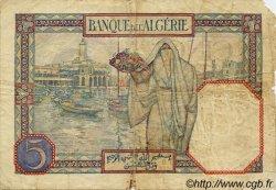 5 Francs ALGÉRIE  1926 P.003 B