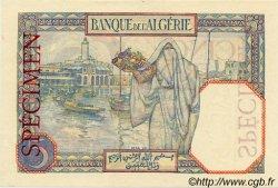 5 Francs ALGÉRIE  1927 P.003s NEUF