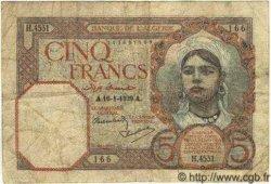 5 Francs ALGÉRIE  1939 P.077a pr.TB