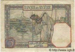 5 Francs ALGÉRIE  1941 P.077b TTB+