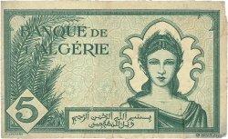 5 Francs ALGÉRIE  1942 P.091 TB