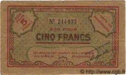 Bon Pour 5 Francs ALGÉRIE  1943 K.394 TTB