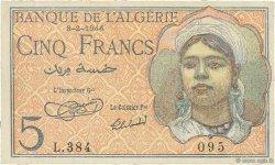 5 Francs ALGÉRIE  1944 P.094a SUP+