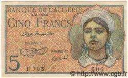 5 Francs ALGÉRIE  1944 P.005