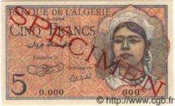 5 Francs ALGÉRIE  1944 P.094s NEUF