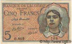 5 Francs ALGÉRIE  1944 P.094b