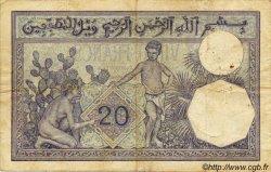 20 Francs ALGÉRIE  1927 P.009 B+ à TB