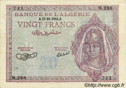 20 Francs ALGÉRIE  1943 P.010 TTB+