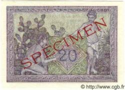 20 Francs ALGÉRIE  1942 P.010s NEUF