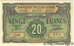 20 Francs ALGÉRIE  1948 P.012 NEUF