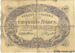 50 Francs ALGÉRIE  1904 P.014 TB