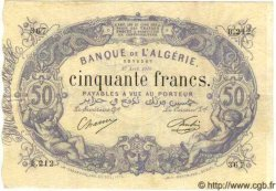 50 Francs ALGÉRIE  1910 P.014 TTB