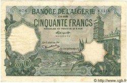 50 Francs ALGÉRIE  1936 P.015 TB à TTB