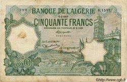 50 Francs ALGÉRIE  1937 P.080a B+
