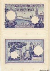 50 Francs, Impression Violette (au lieu de vert) ALGÉRIE  1920 P.015var SPL