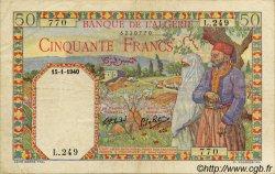 50 Francs ALGÉRIE  1940 P.016a