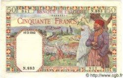 50 Francs ALGÉRIE  1942 P.016a SUP