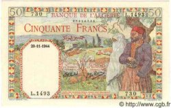 50 Francs ALGÉRIE  1944 P.016b NEUF