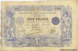 100 Francs ALGÉRIE  1911 P.018 TTB