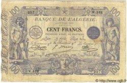 100 Francs ALGÉRIE  1919 P.018 TB à TTB