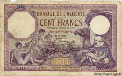 100 Francs ALGÉRIE  1921 P.081a B
