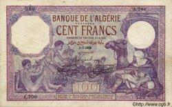 100 Francs ALGÉRIE  1928 P.019 TB