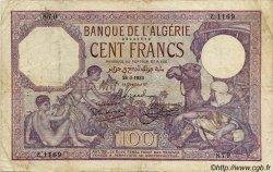 100 Francs ALGÉRIE  1933 P.019
