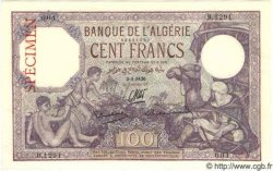100 Francs ALGÉRIE  1936 P.081s NEUF