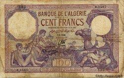 100 Francs ALGÉRIE  1936 P.019 B