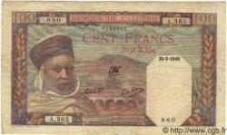 100 Francs ALGÉRIE  1940 P.020a TTB
