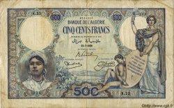 500 Francs ALGÉRIE  1926 P.082 pr.TB
