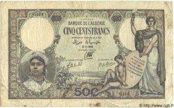 500 Francs ALGÉRIE  1942 P.023c B à TB