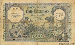 500 Francs ALGÉRIE  1943 P.024 B+