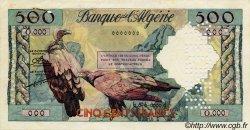 500 Francs ALGÉRIE  1958 P.117s pr.SUP